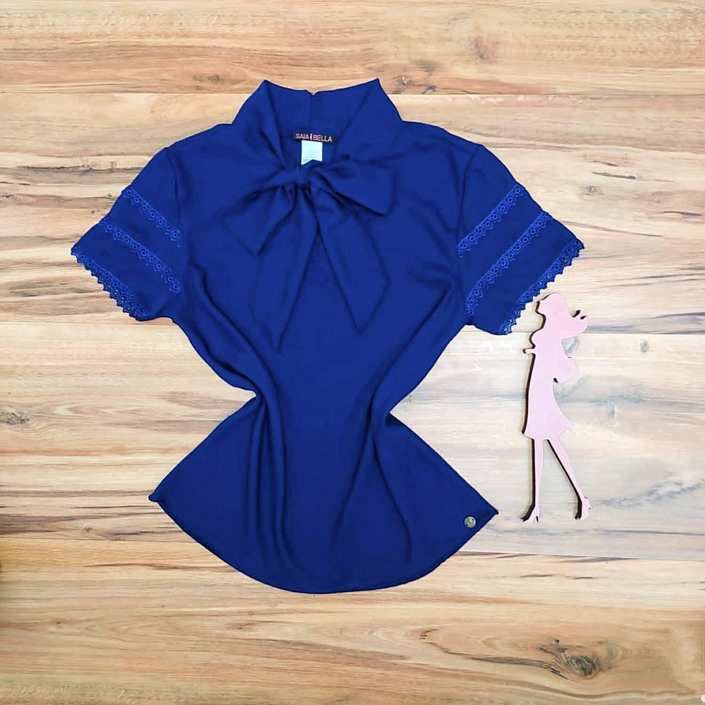 Blusa de Renda Mell Saia Bella - SB9976 azul marinho