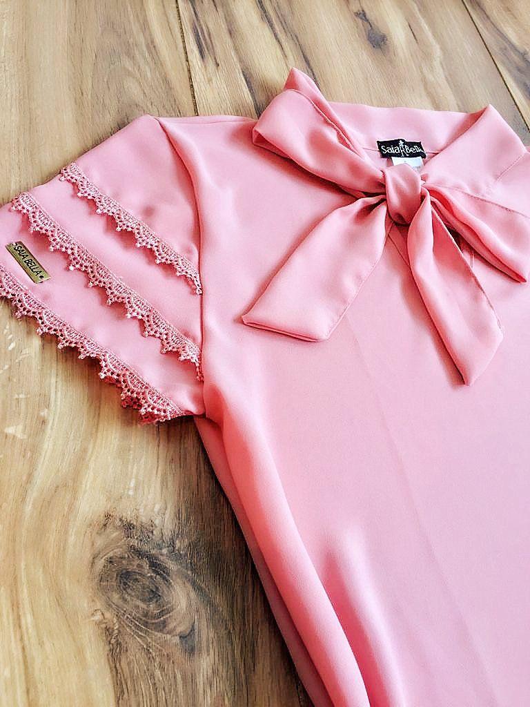 Blusa de Renda Saia Bella - SB9976 rosa