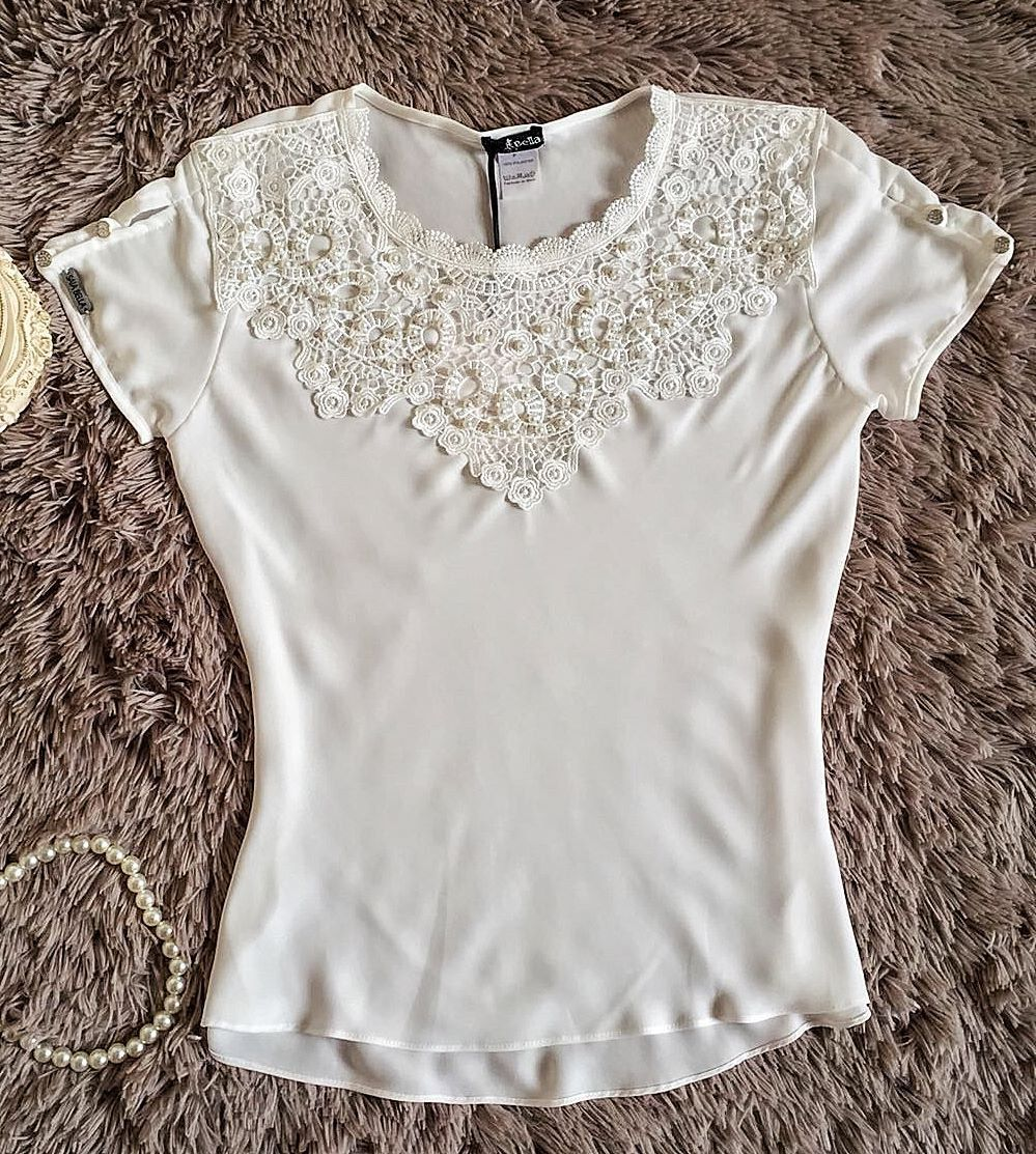 Blusa de Renda Saia Bella - SB9952 branco