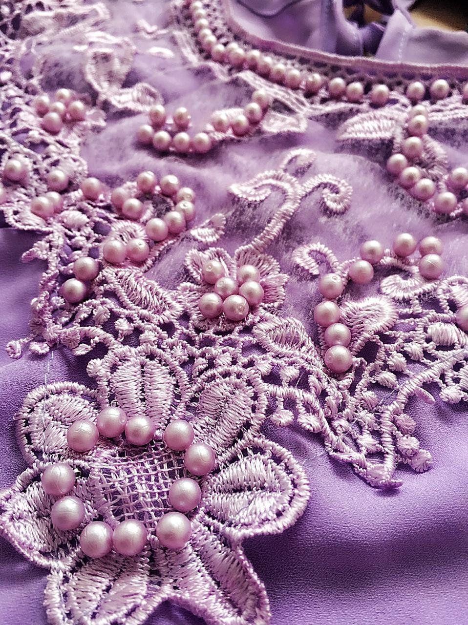 Blusa de Renda Saia Bella - SB9965 lilas
