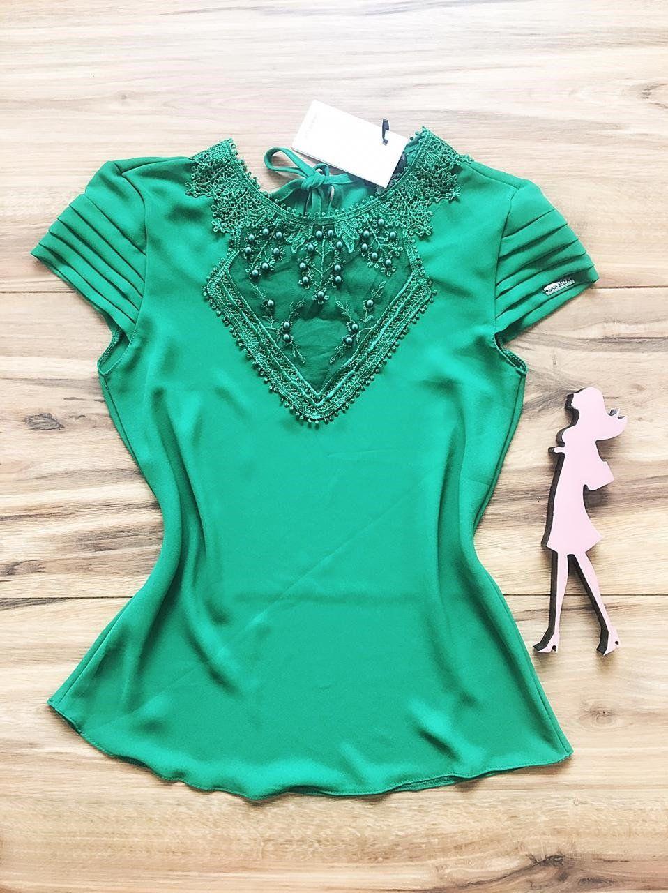 Blusa de Renda Saia Bella - SB9966 verde