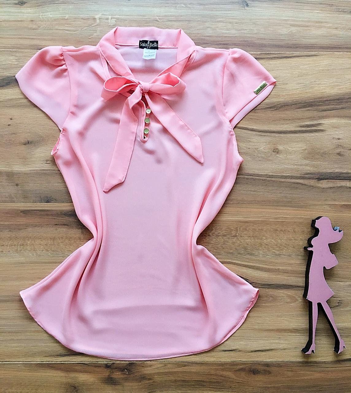 Blusa de Renda Saia Bella - SB9975  rosa
