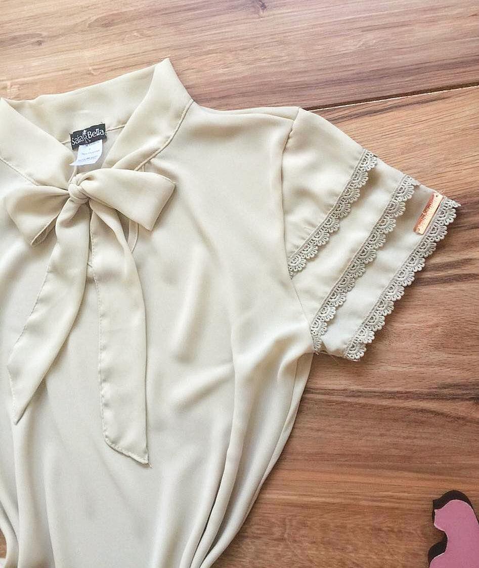 Blusa de Renda Saia Bella - SB9976 creme