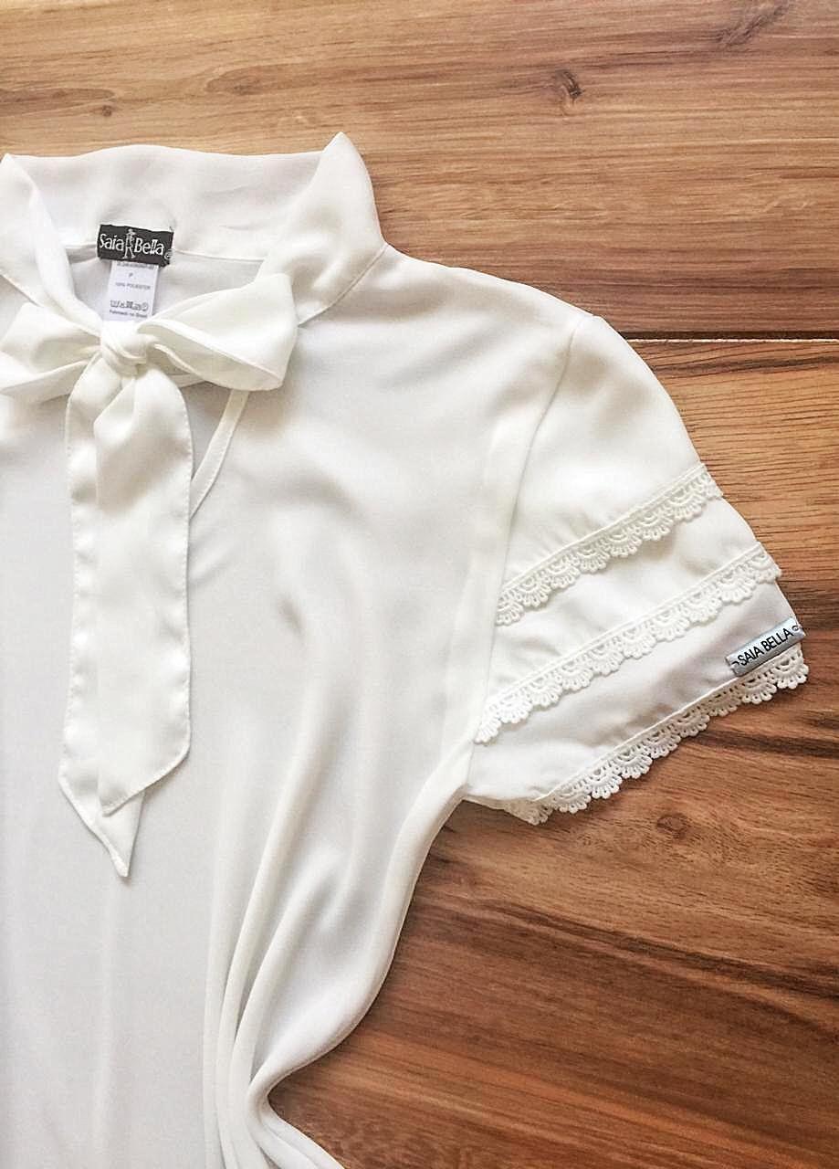 Blusa de Renda Saia Bella - SB9976 branca