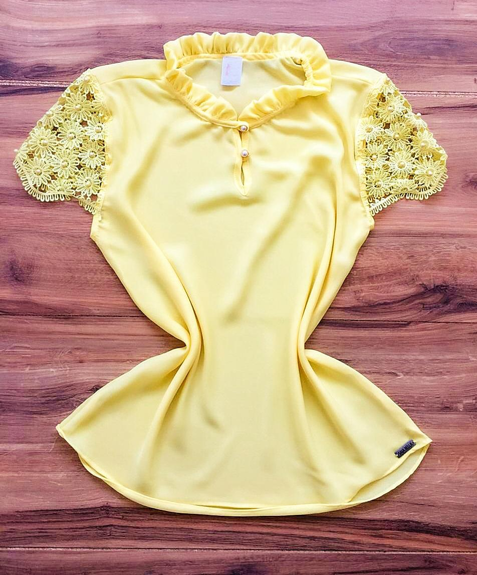 Blusa de Renda Saia Bella - SB9980 amarelo