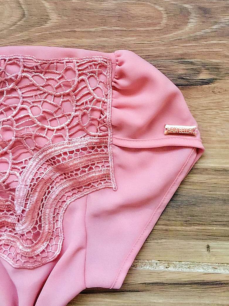 Blusa de Renda Saia Bella - SB9981 rosa