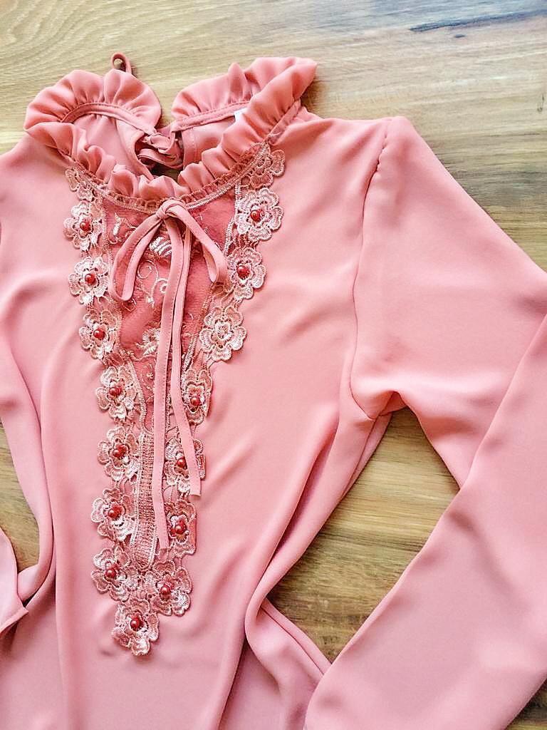 Blusa de Renda Saia Bella - SB9982 rosa