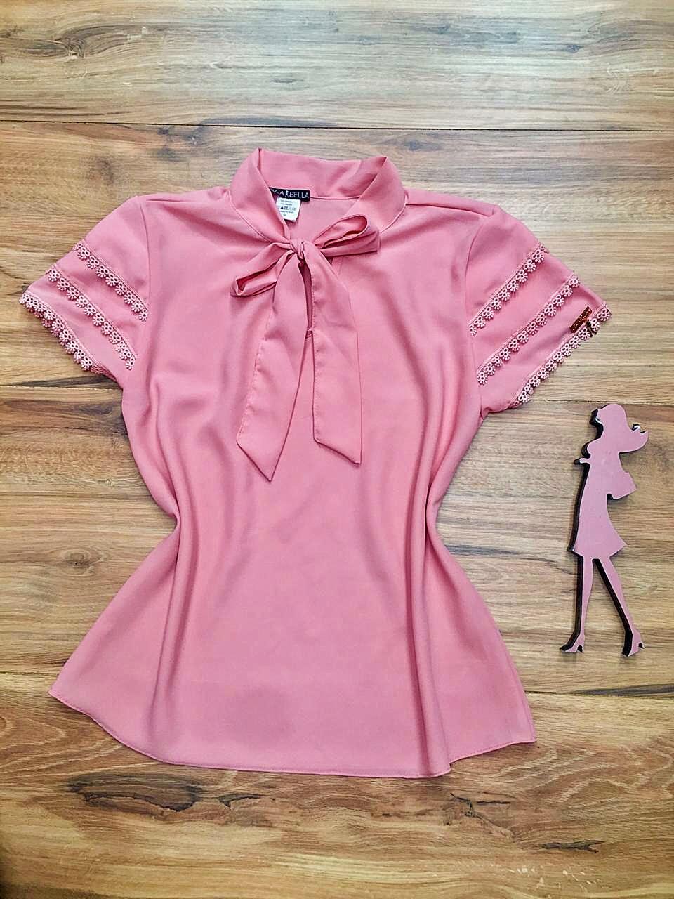 Blusa de Renda Saia Bella - SB9985 rosa
