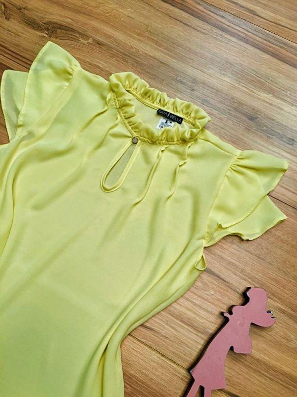 Blusa de Renda Saia Bella - SB9998 amarelo