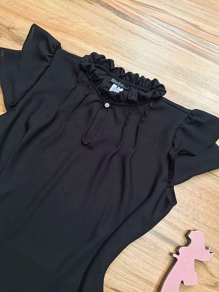 Blusa de Renda Saia Bella - SB9998 preto