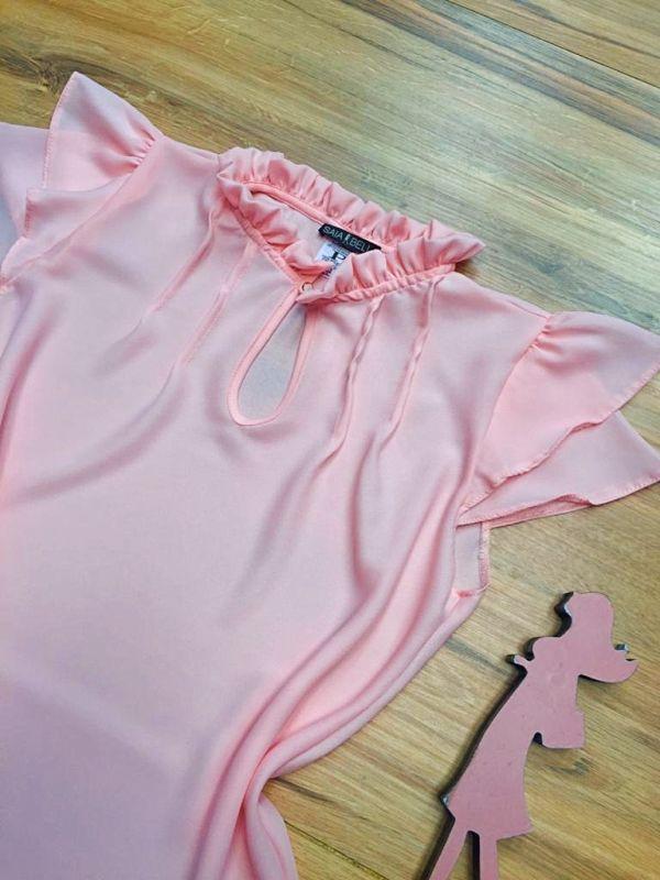 Blusa de Renda Saia Bella - SB9998 rosa