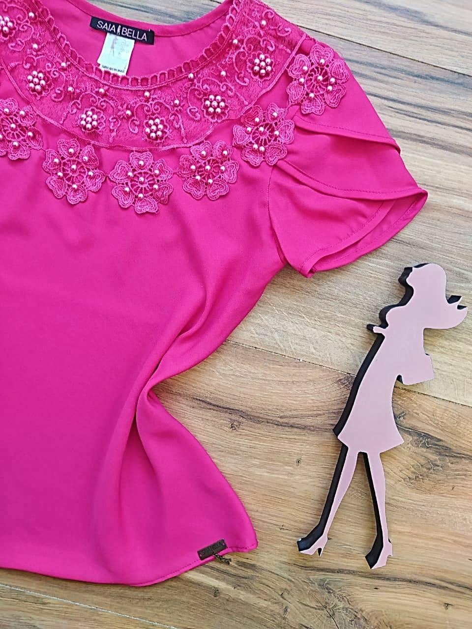 Blusa Débora Saia Bella - SB4380 Pink