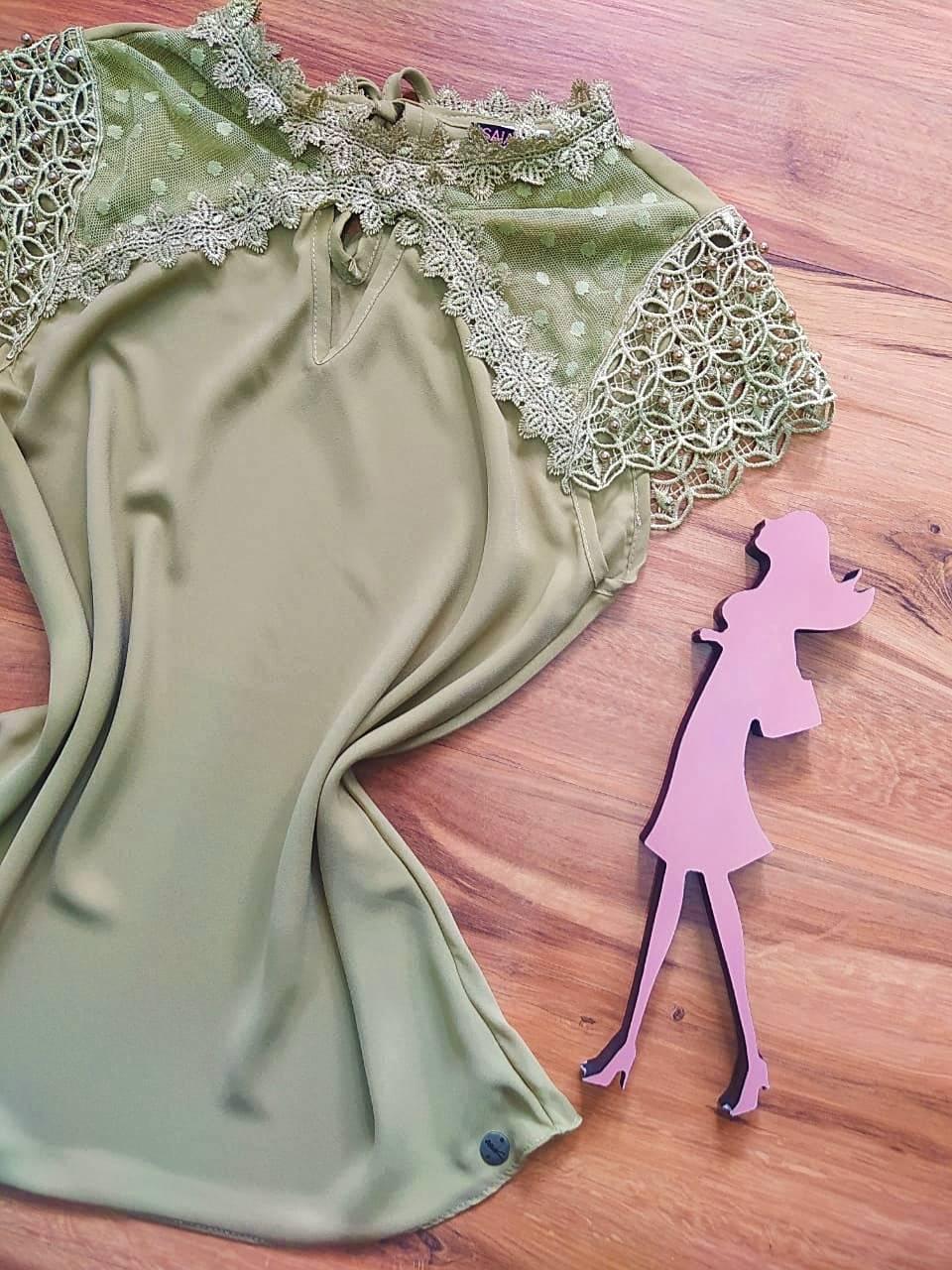 Blusa Eleonor Saia Bella - SB700052 Verde Aspargo