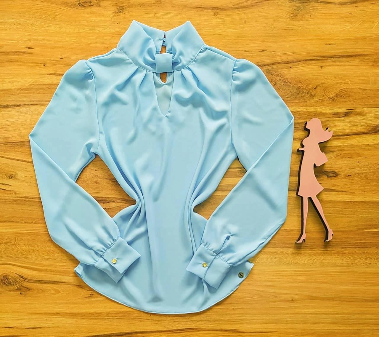 Blusa Elisa Saia Bella - SB700095 azul bebê