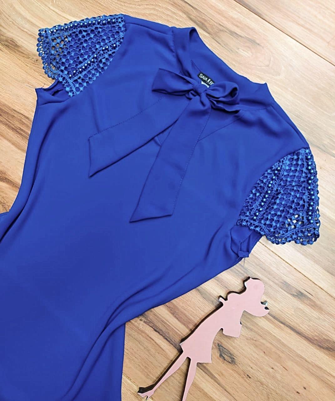 Blusa Heloísa Saia Bella - SBR7780 Azul Royal