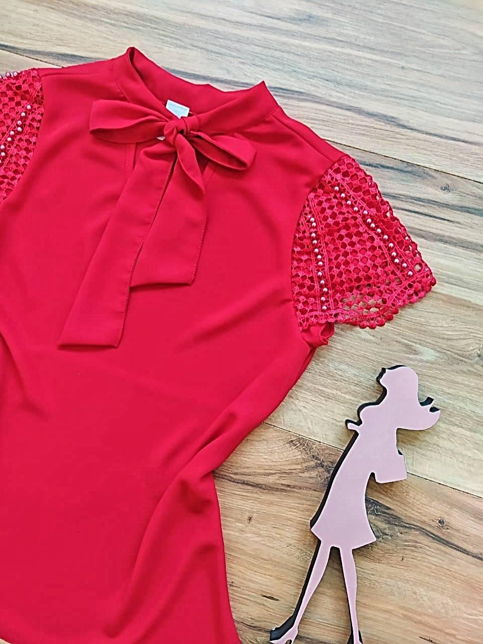 Blusa Heloísa Saia Bella - SBR7780 Vermelho