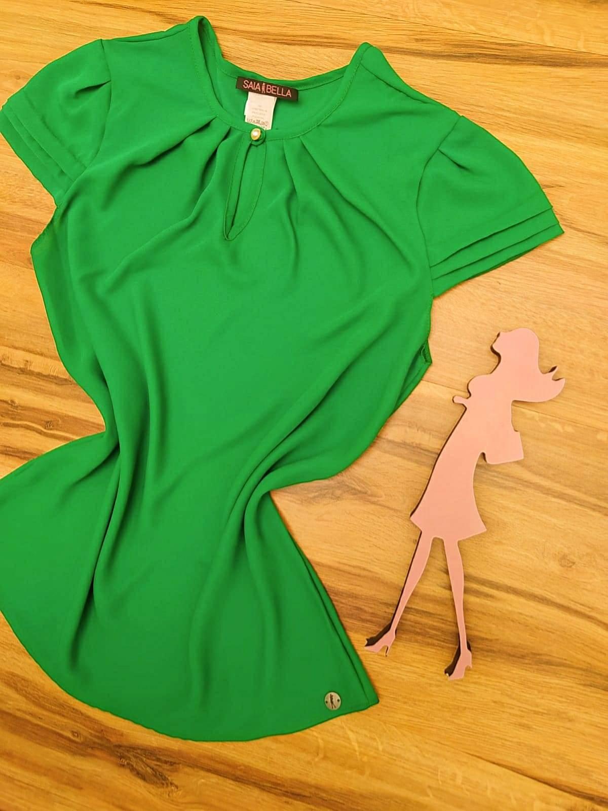 Blusa Jéssica Saia Bella - SB8018850 Verde Bandeira