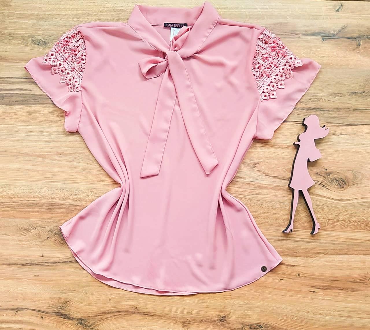 Blusa Joy de Renda Saia Bella - SB21471 Rosê Plus Size