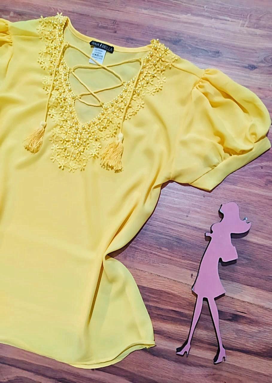 Blusa Lara Saia Bella - SB7792 Amarelo