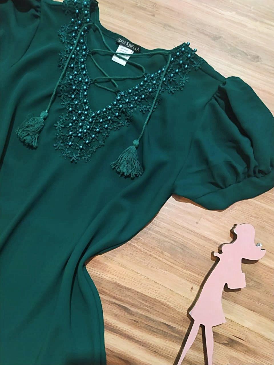 Blusa Lara Saia Bella - SB7792 Verde