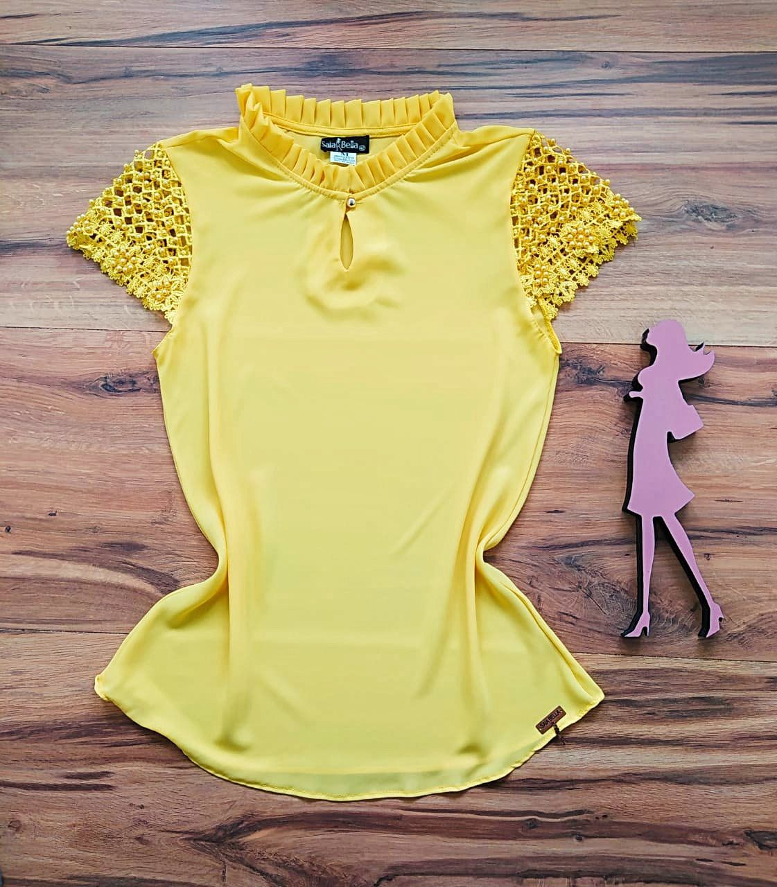 Blusa Larissa Saia Bella - SB7890 Amarelo