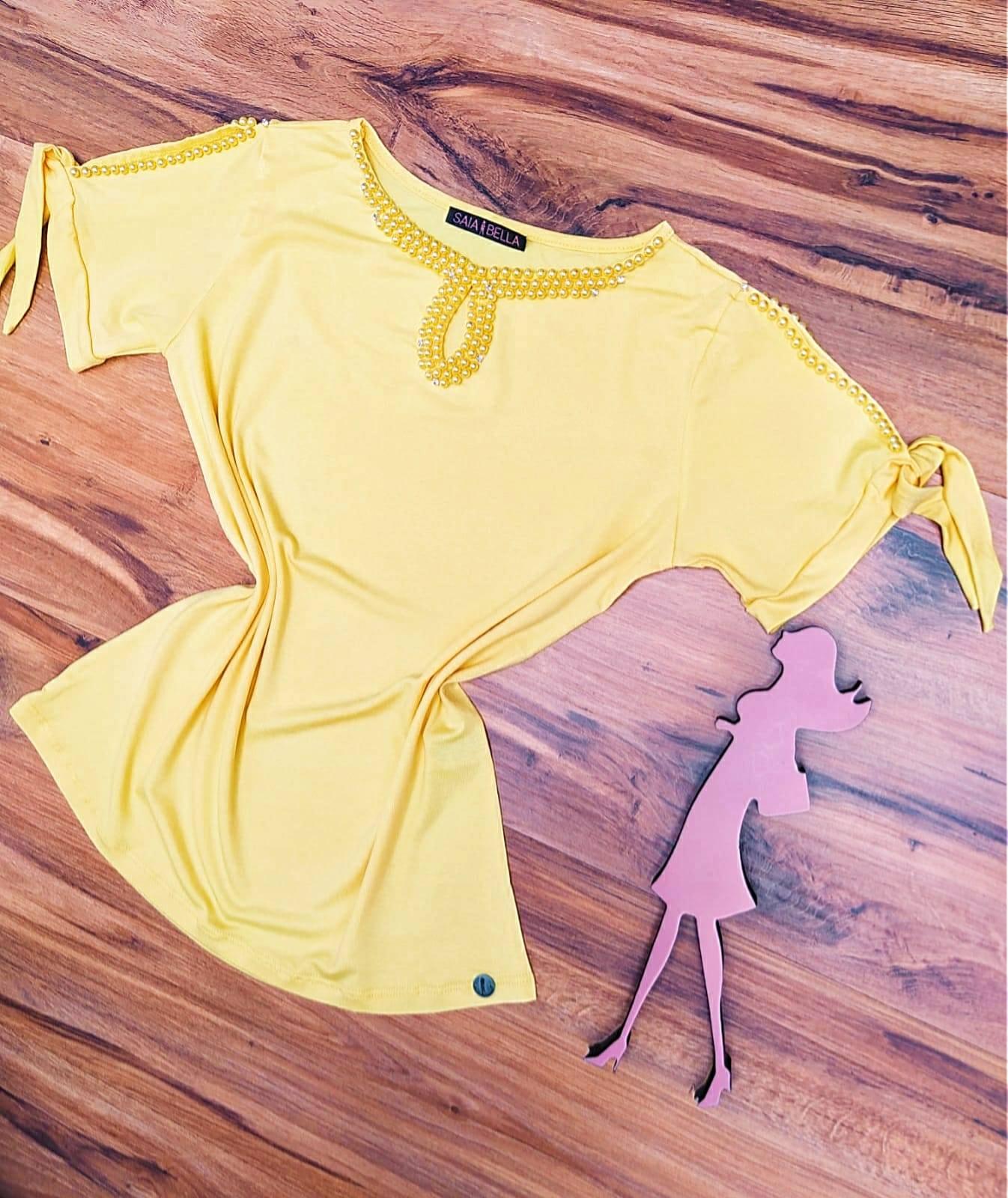 Blusa Lia Saia Bella - SB41257 Amarelo