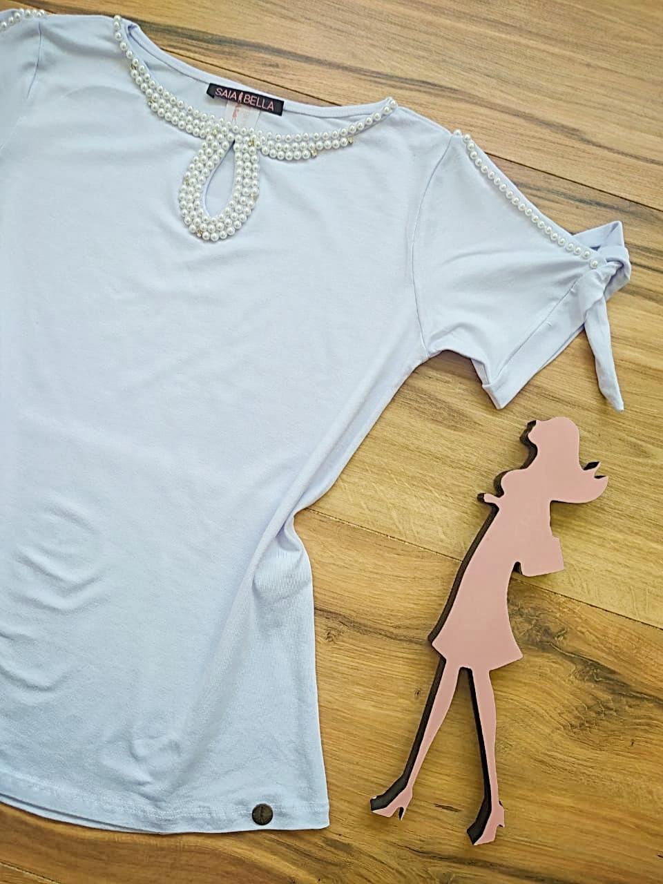 Blusa Lia Saia Bella - SB41257 Branco