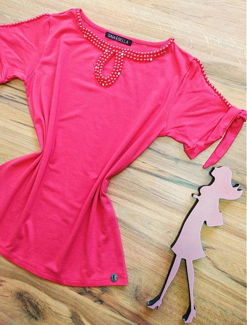 Blusa Lia Saia Bella - SB41257 Rosa Chiclete