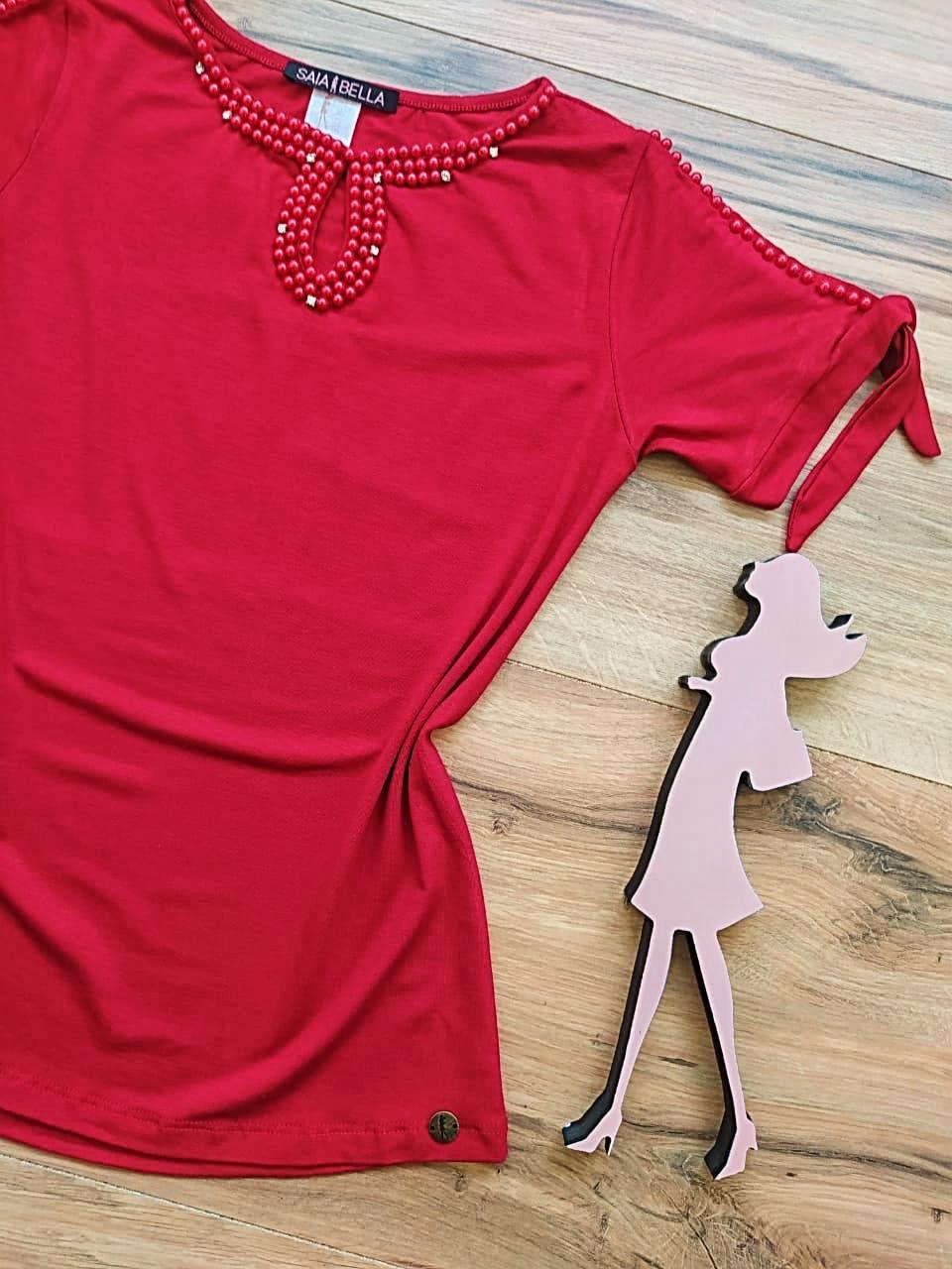 Blusa Lia Saia Bella - SB41257 Vermelho