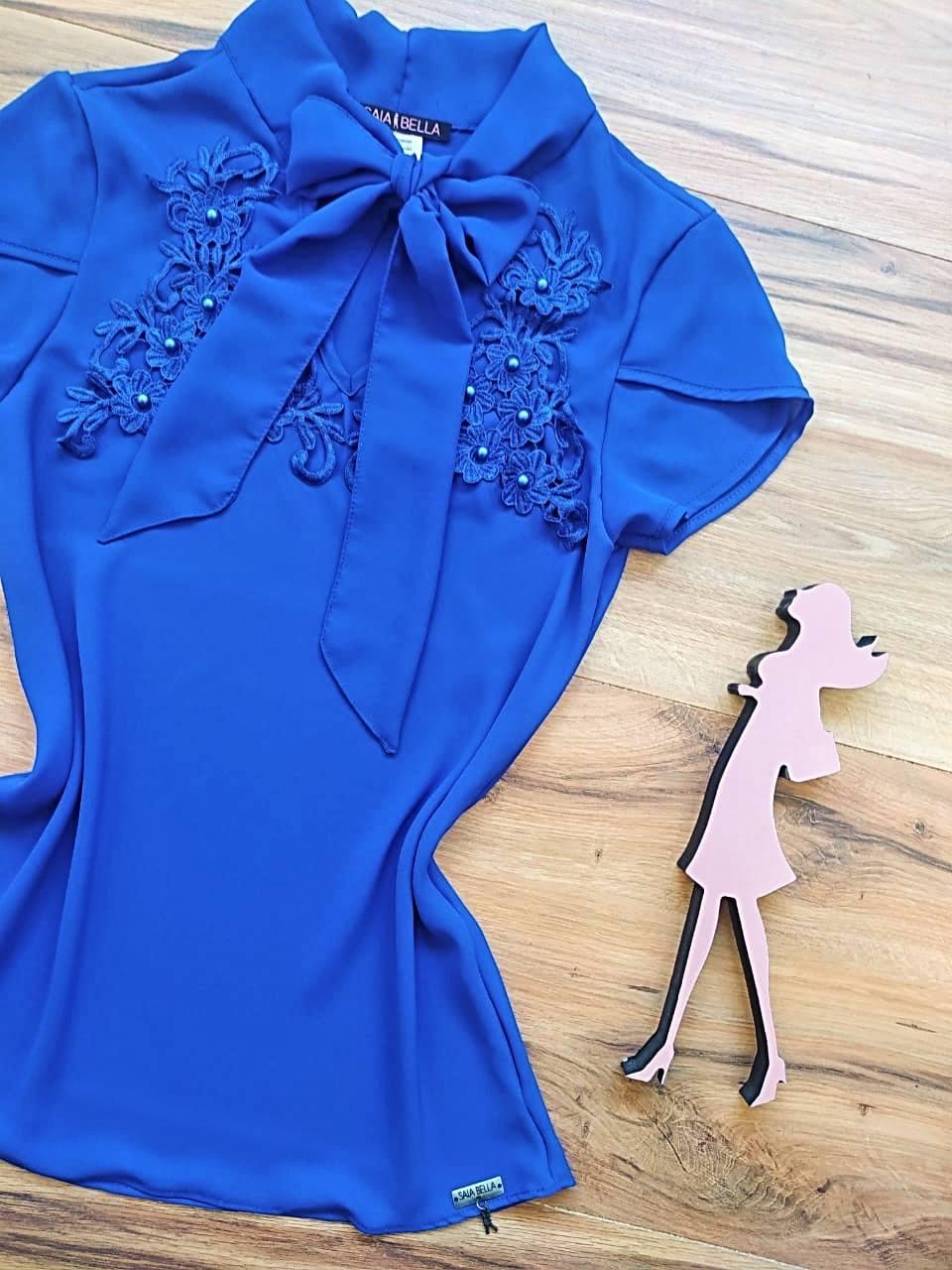 Blusa Luma Saia Bella - SB3312 Azul Royal