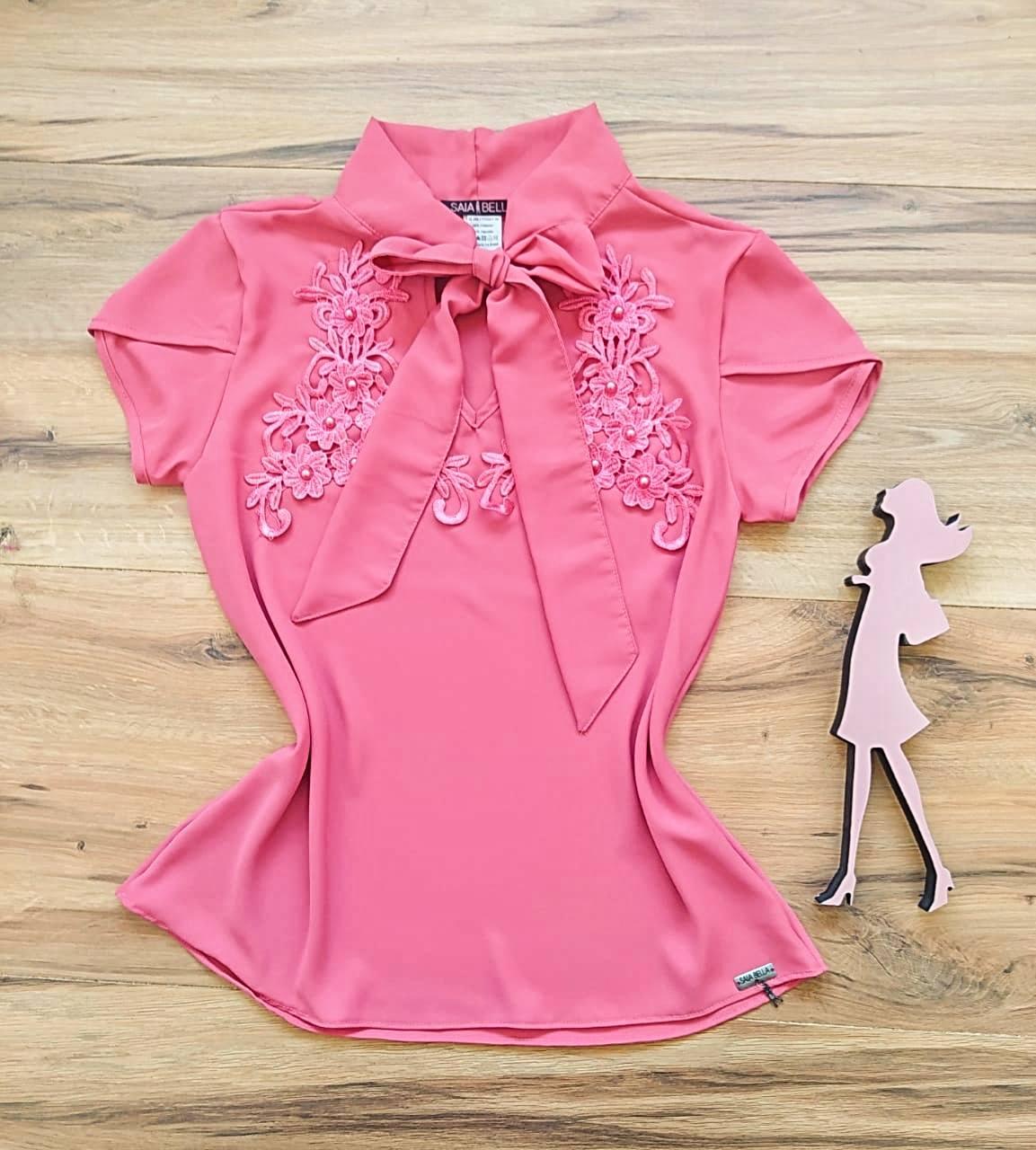Blusa Luma Saia Bella - SB3312 Pink