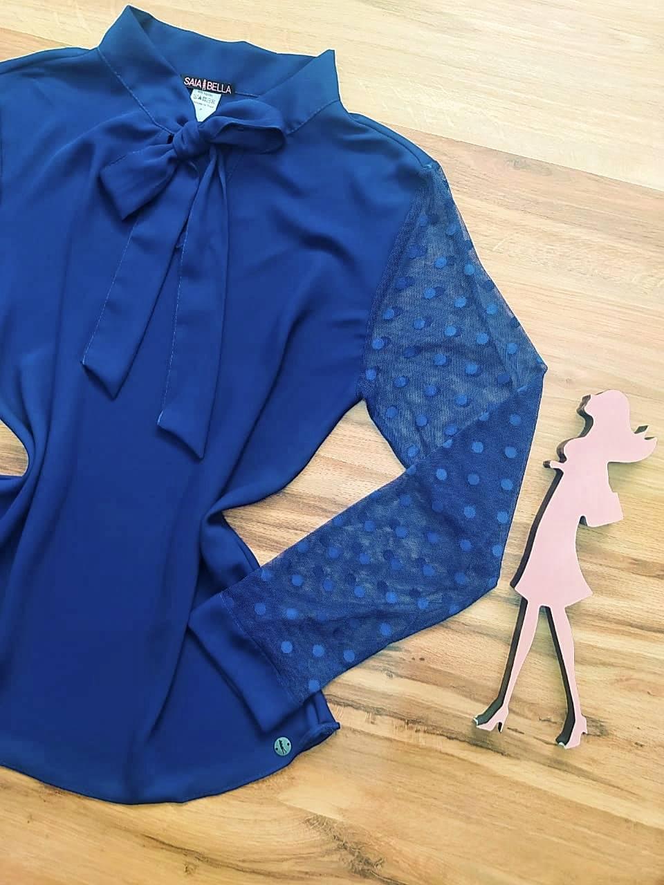 Blusa Marcela Saia Bella - SB700074 Azul Marinho