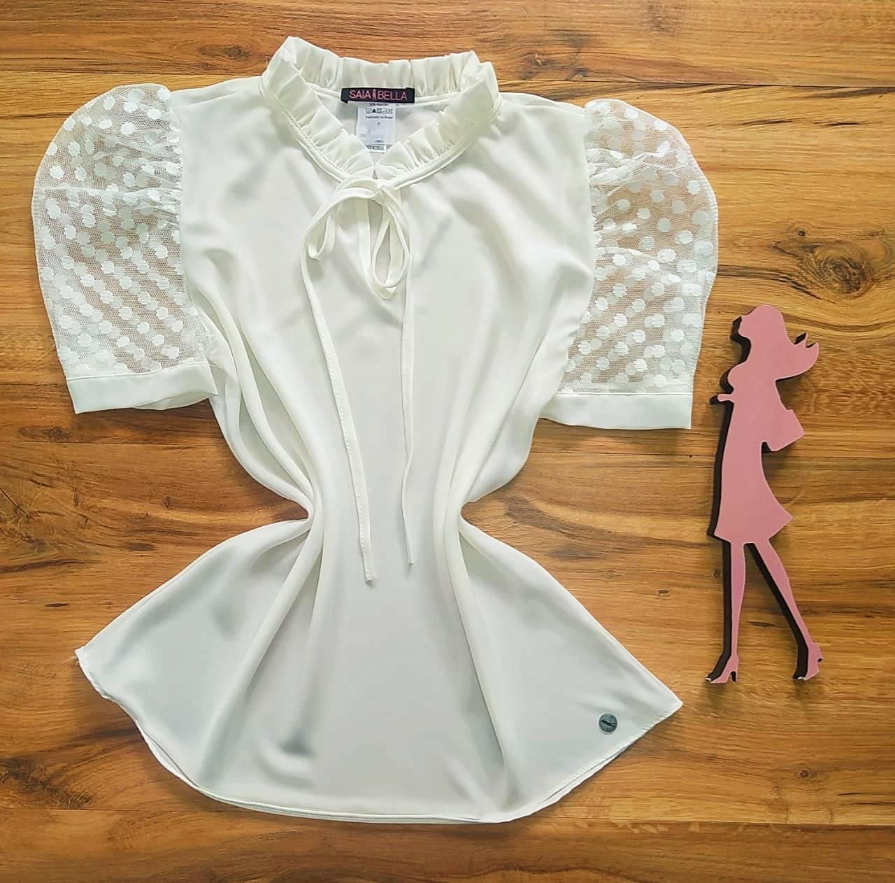 Blusa Michelle Saia Bella - SB700053 Branco