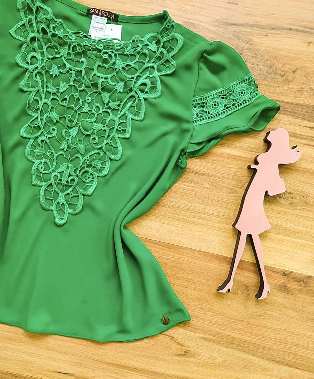 Blusa Mirtes Saia Bella - SB80002 Verde