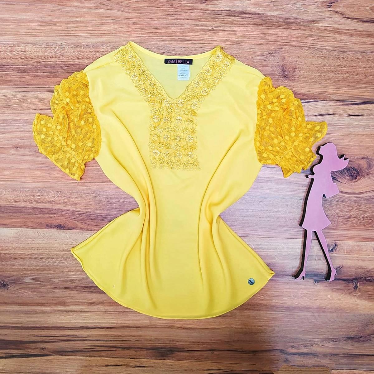 Blusa Naiara Saia Bella - SB5111 Amarelo