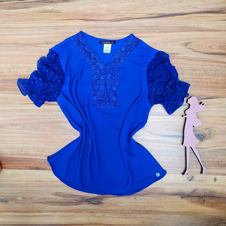 Blusa Naiara Saia Bella - SB5111 Azul Royal