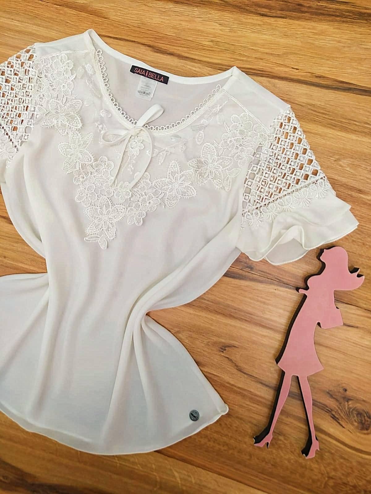 Blusa Rafaela Saia Bella - SB5116 Branco