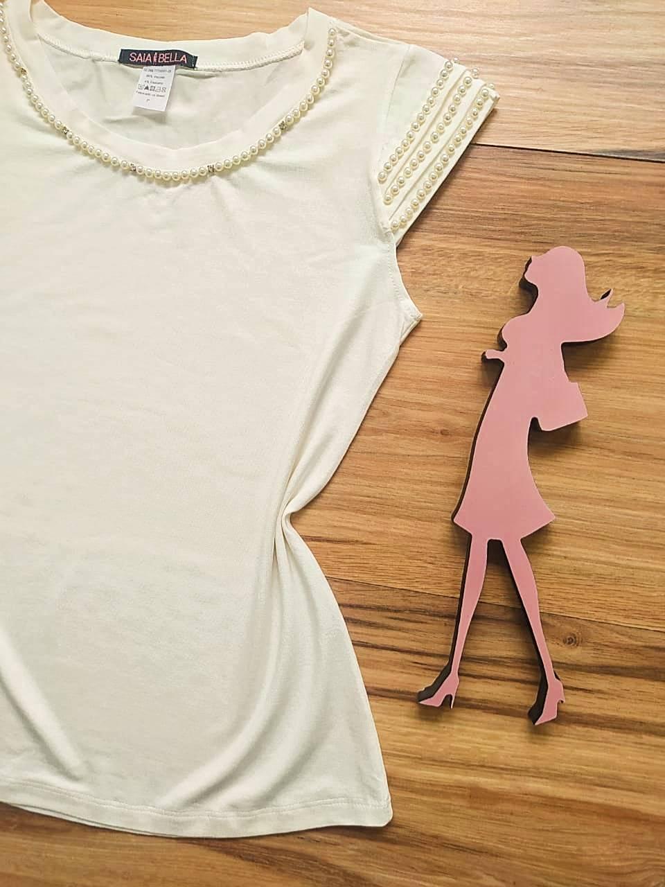 Blusa Raquel  Saia Bella - SB41255 Branco