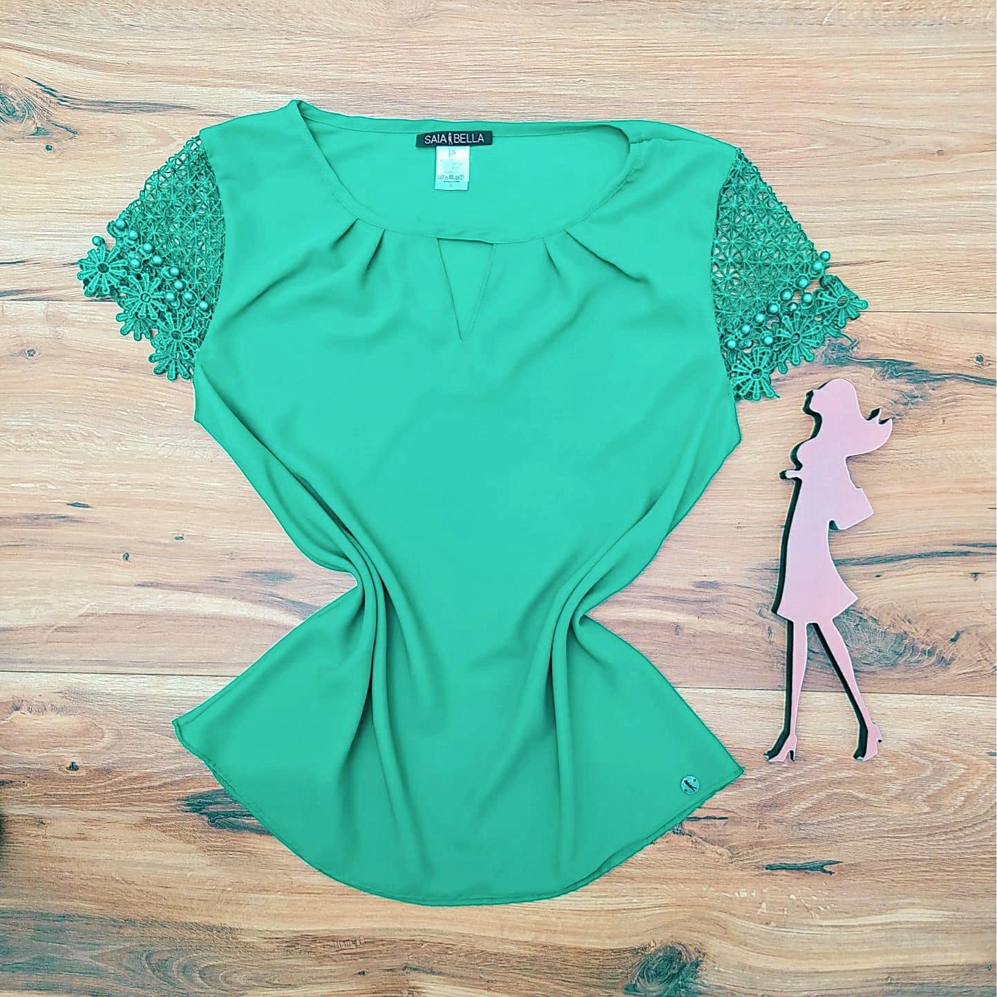 Blusa Raquel Saia Bella - SB8018855 Verde Bandeira