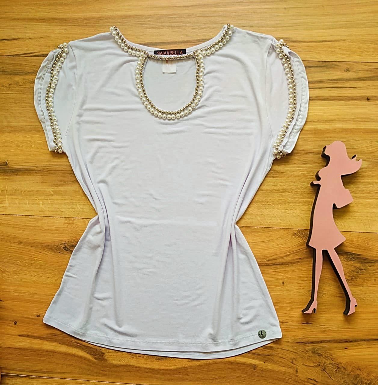 Blusa Sarah Saia Bella - SB41251 Branco