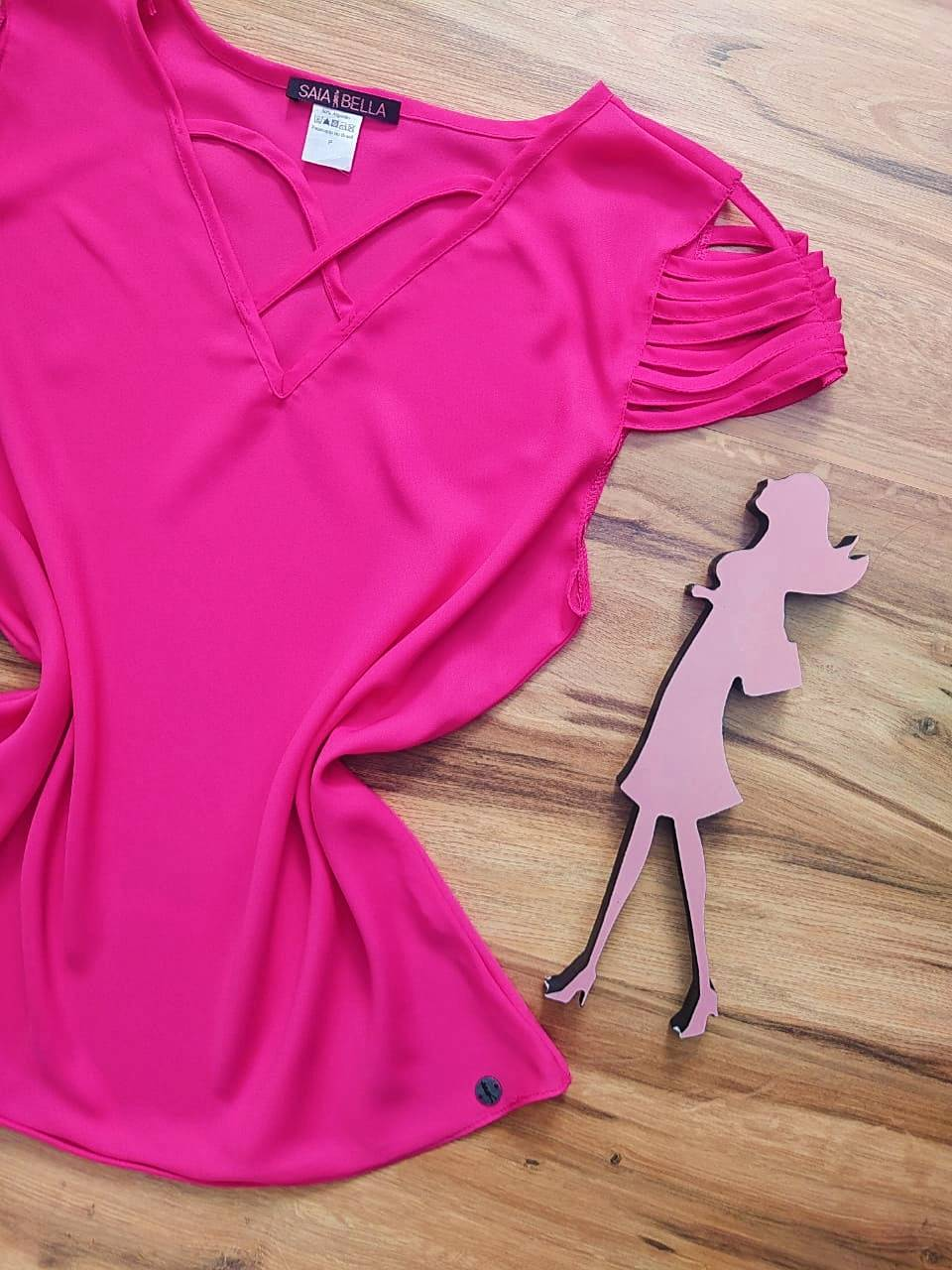 Blusa Sheila Saia Bella - SB8018804. pink