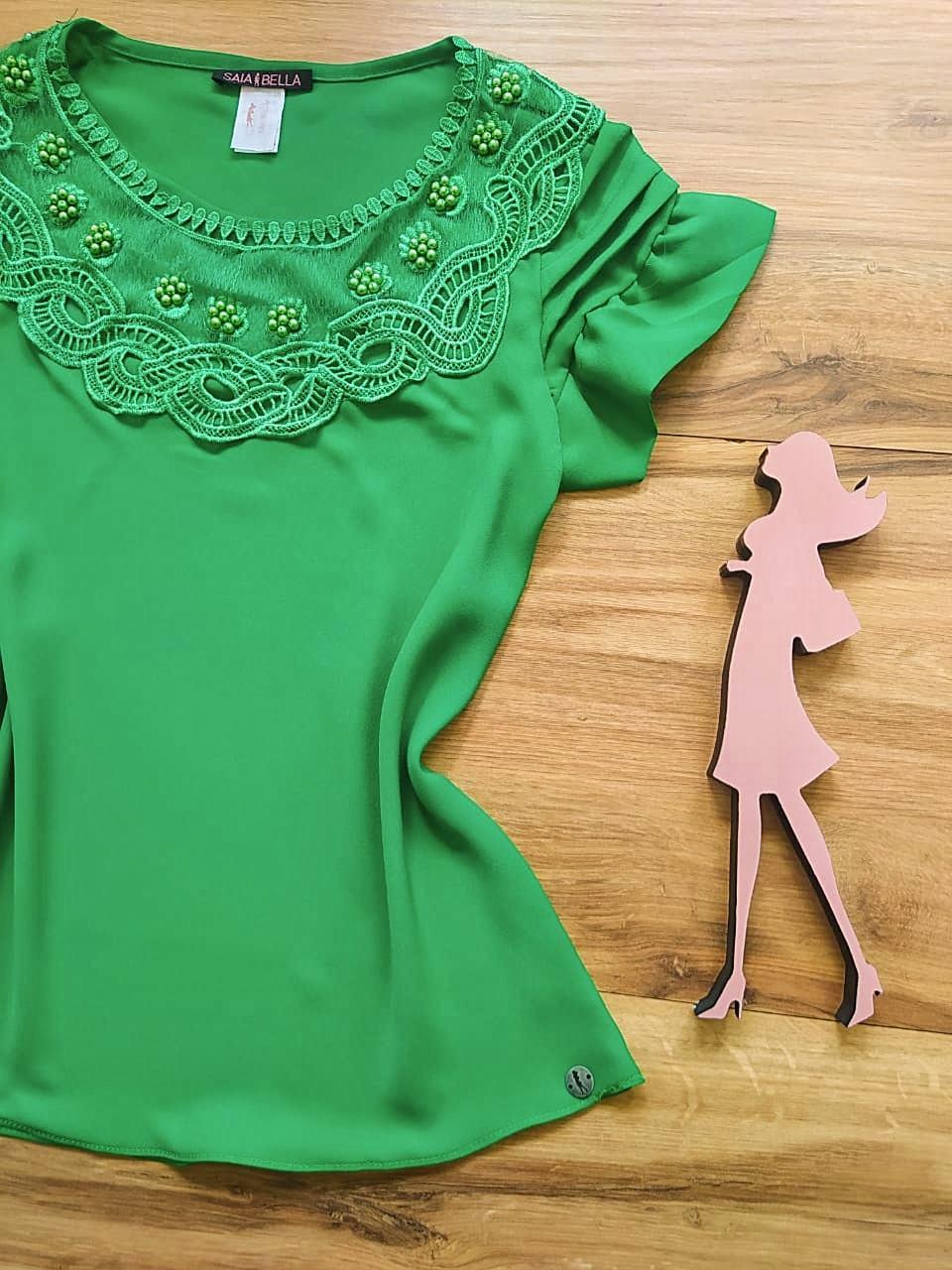 Blusa Shirley Saia Bella - SB80005 Verde