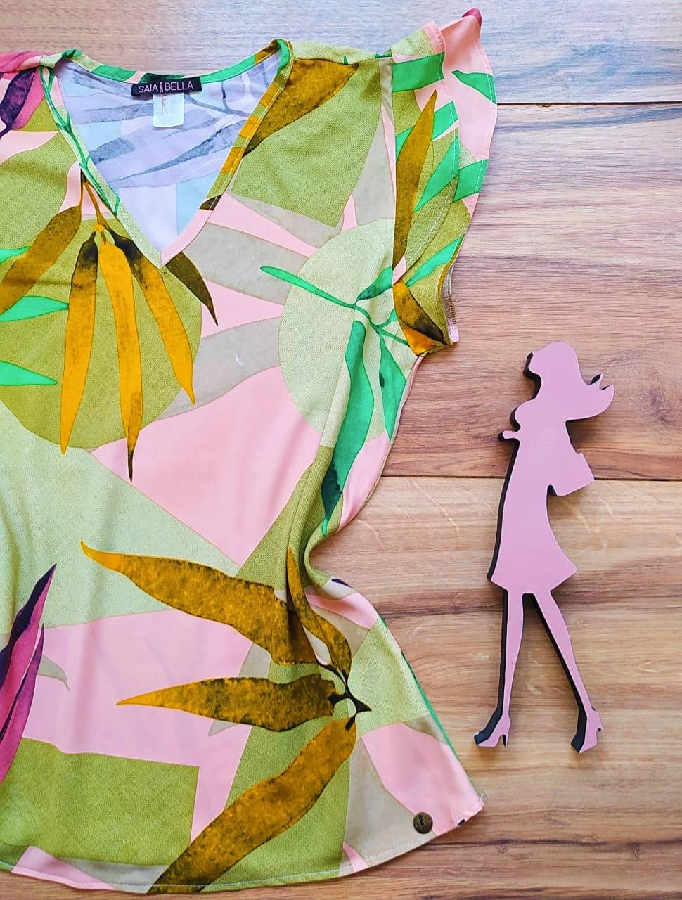 Blusa Sophia Estampada Saia Bella - SB2710 - I
