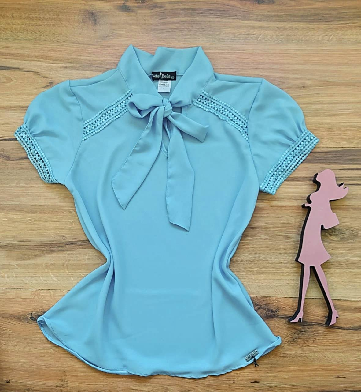 Blusa Sueli Saia Bella - SB9970_azul bebê