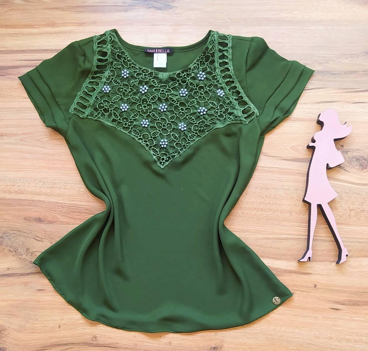 Blusa Valéria de Renda Saia Bella - SB79903 verde
