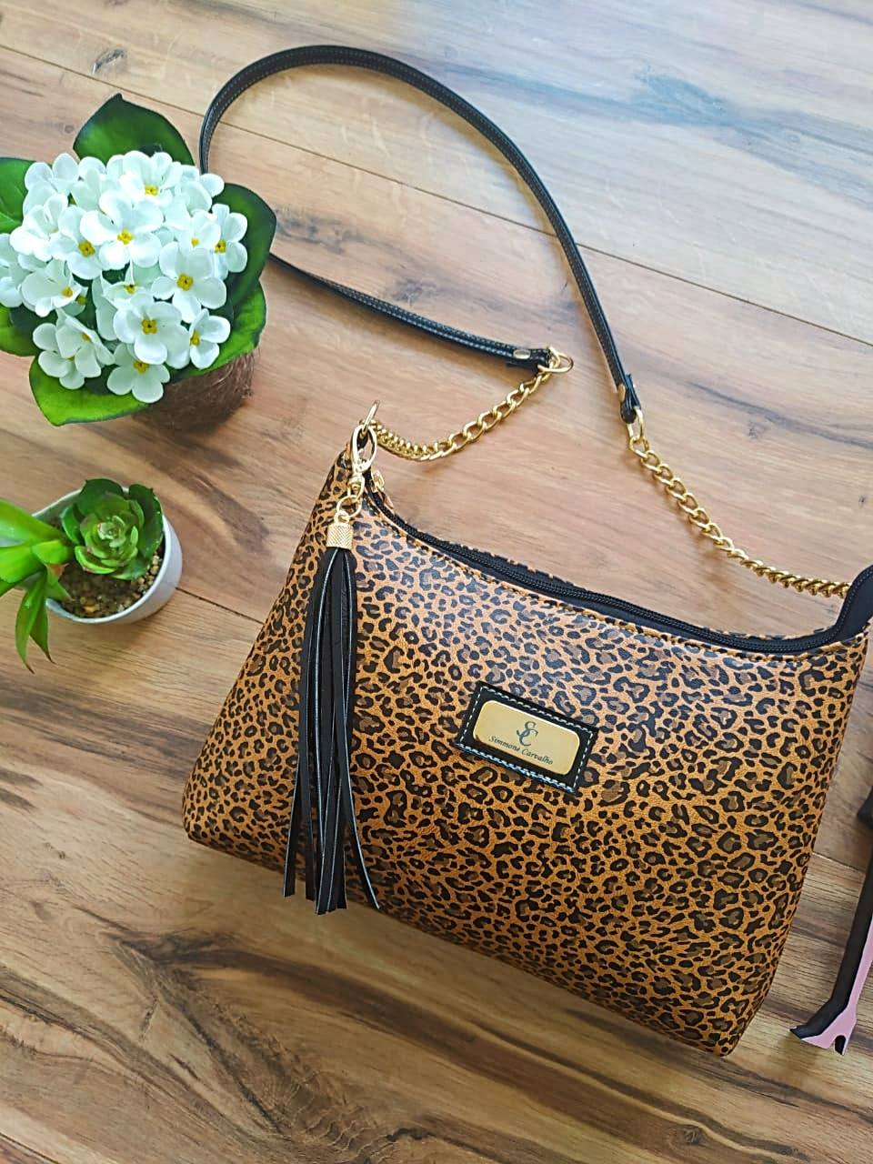 Bolsa Luana by Simmone Carvalho - SC701 - Animal Print