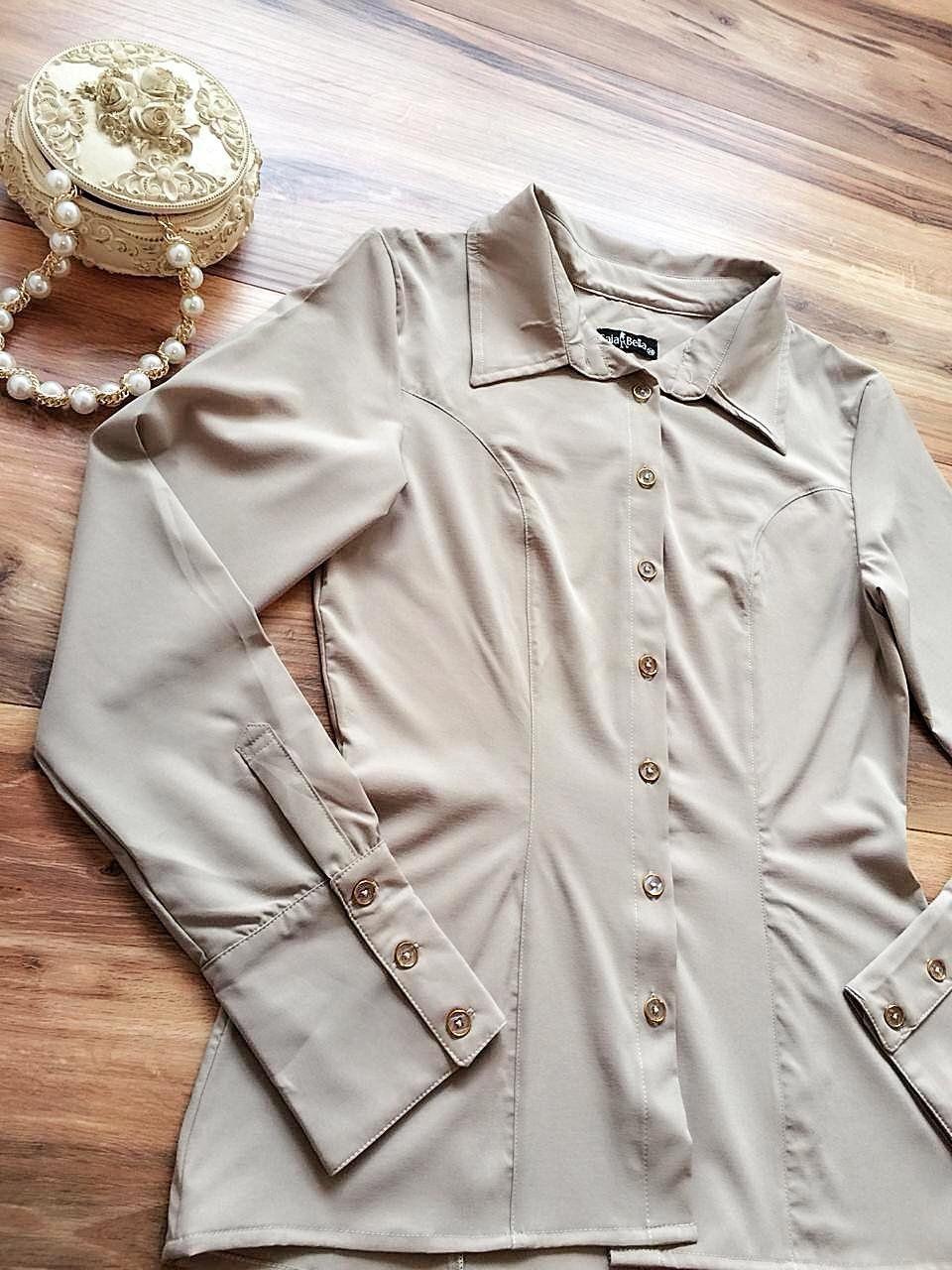 Camisa Morgana SB189 Bege