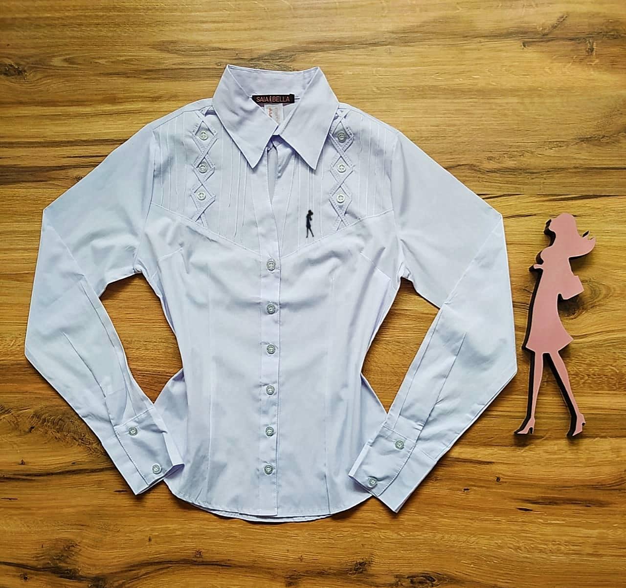 Camisa Ohana Manga Longa Saia Bella SB33181 Branco
