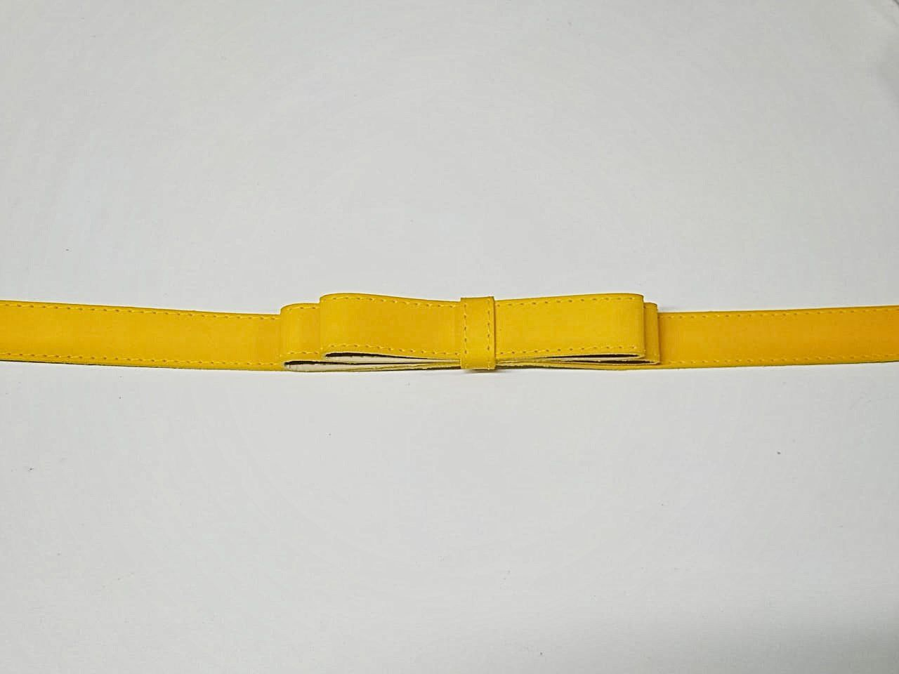Cinto Laço Duplo SBA108 Amarelo