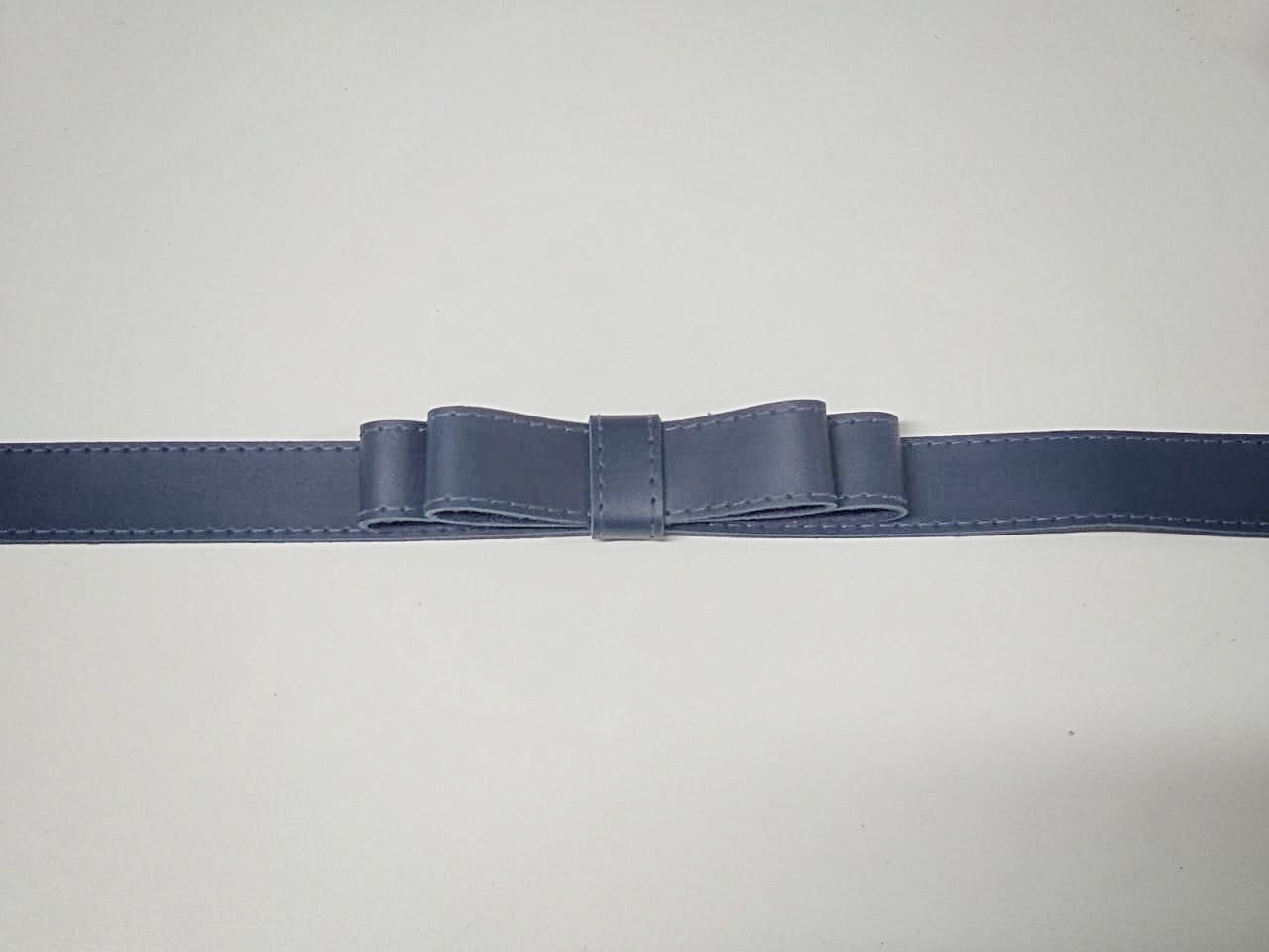 Cinto Laço Duplo SBA108 Azul Marinho